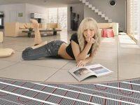 Теплый пол под плитку - нагревательные маты