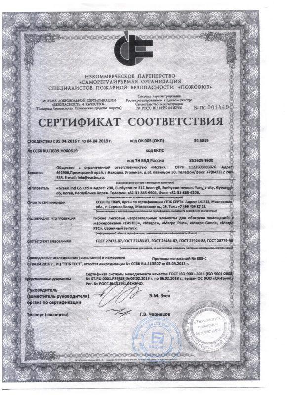 Пожарный сертификат истэк